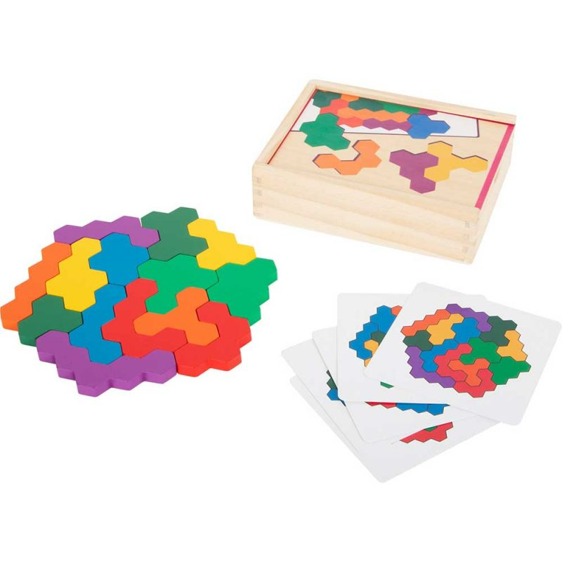 Puzzle educativo 'Hexágono'