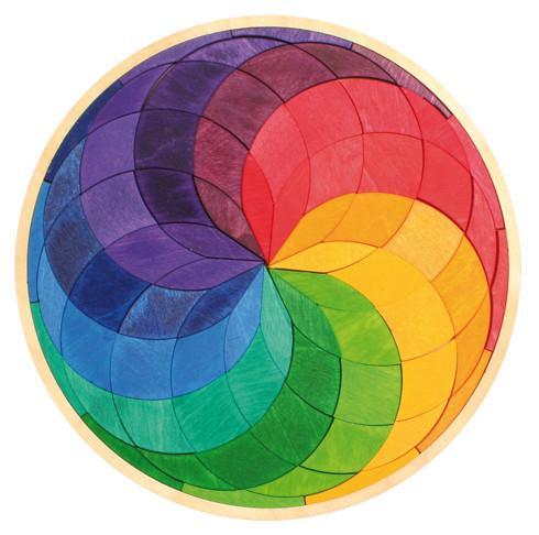 Mandala De Madera Espiral