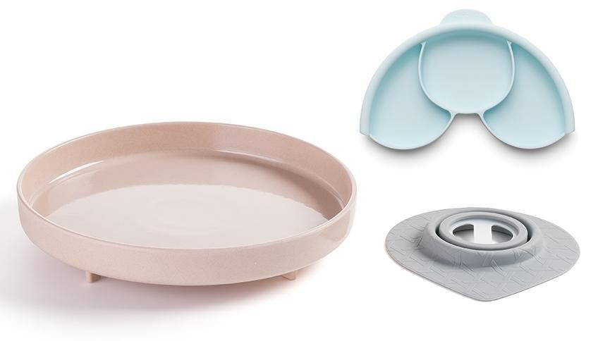 Plato y Separador con Ventosa Stone Miniware