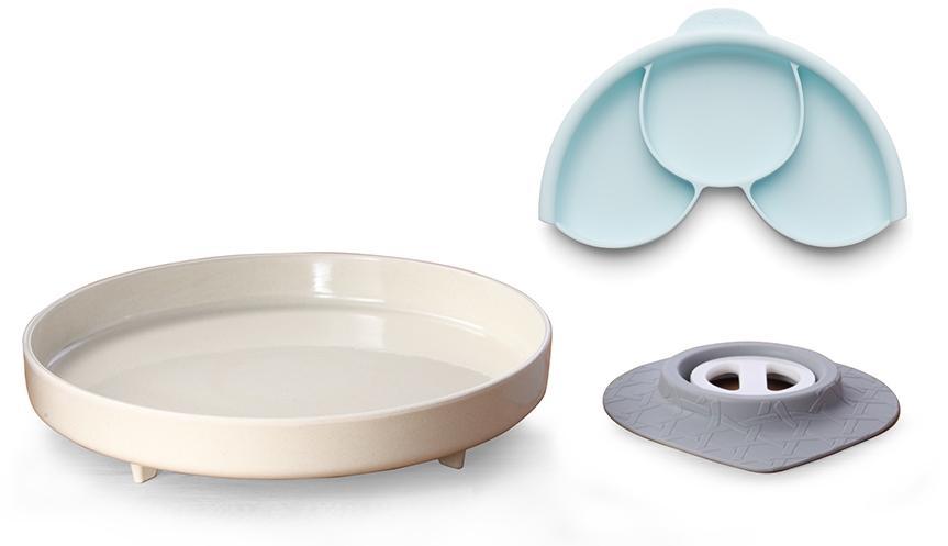 Plato y Separador con Ventosa Natural Miniware