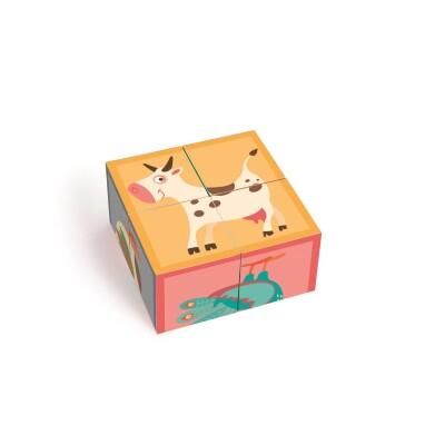 Puzzle Farm 4 Blocks Cartón Scratch