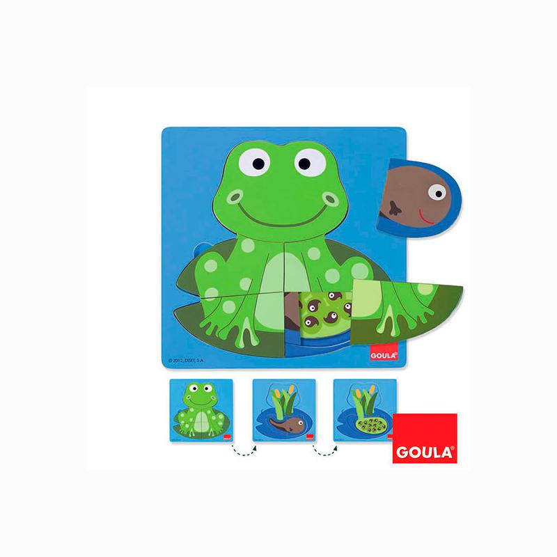 Puzzle 3 niveles Rana
