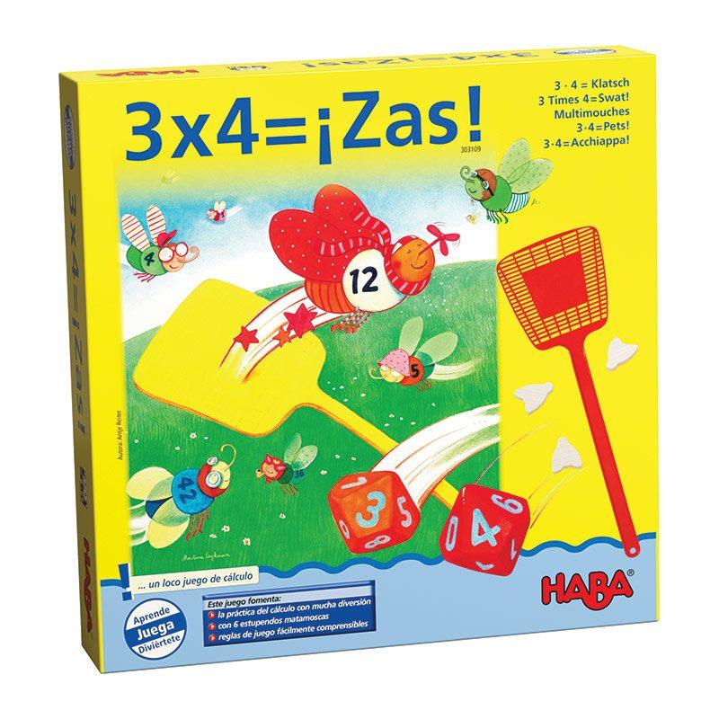 3x4= ¡zas! Haba - Monetes