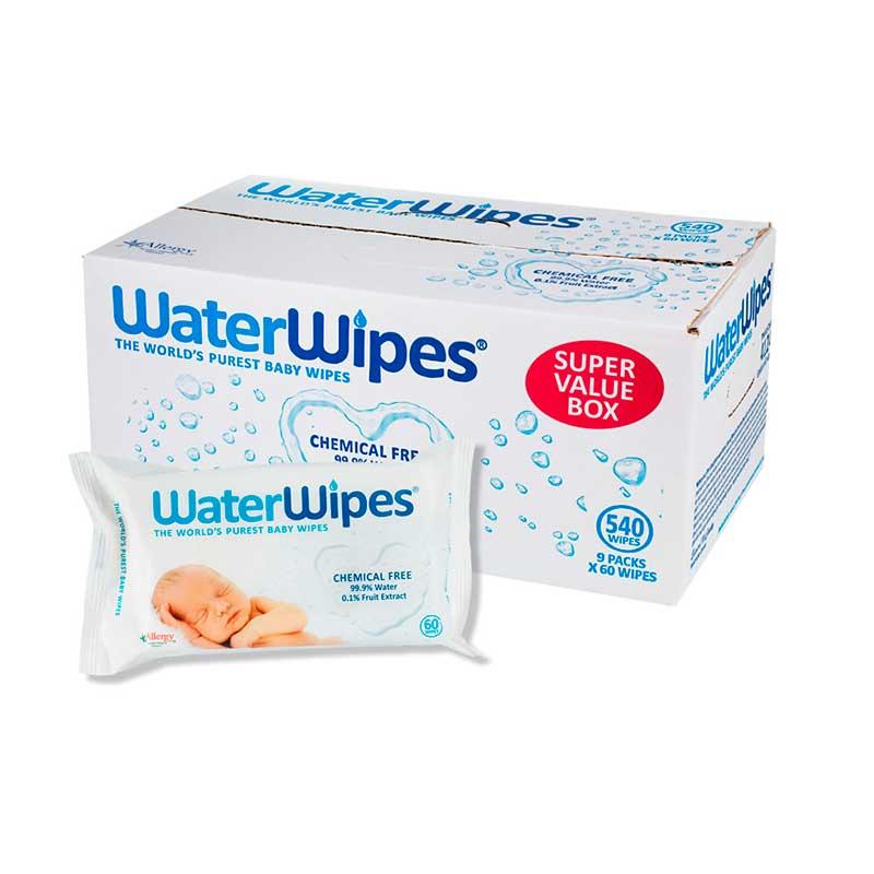 Toallitas WaterWipes (Pack 9 x 60ud)
