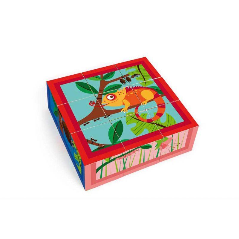 Puzzle Jungle 4 Blocks Cartón Scratch