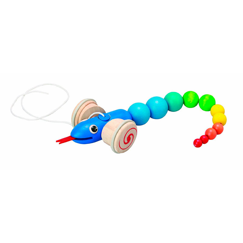 Arrastra la serpiente Plan Toys