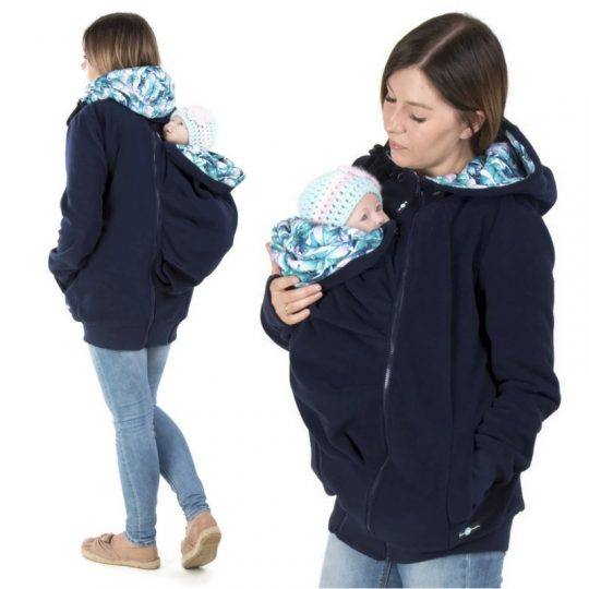 Chaqueta polar 4 en 1 Koala - Navy/Monstera -