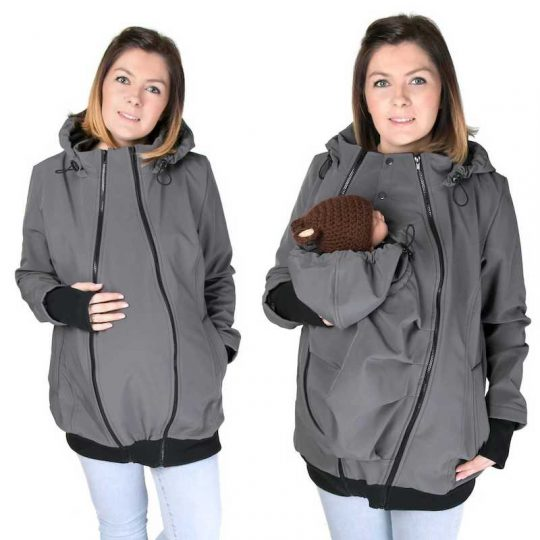 Abrigo de porteo y embarazo 5 en 1. Softshell - varios colores -