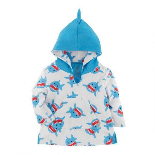 Albornoz infantil de algodón - Tiburón -