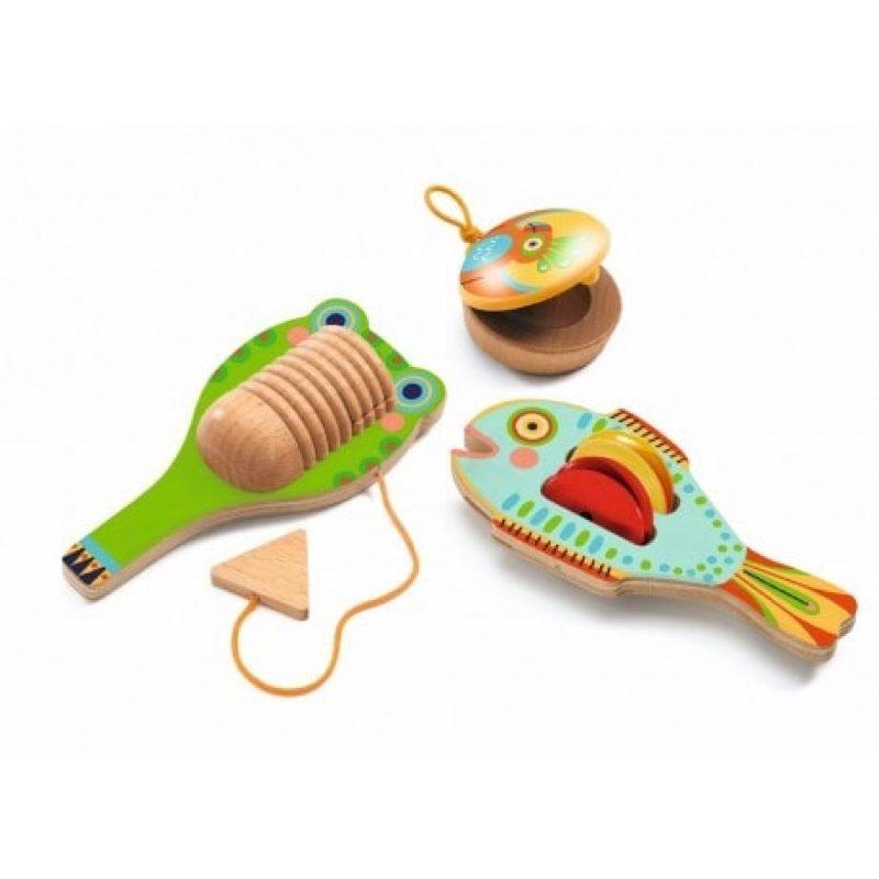 Animambo, set con 3 instrumentos de percusión, Djeco