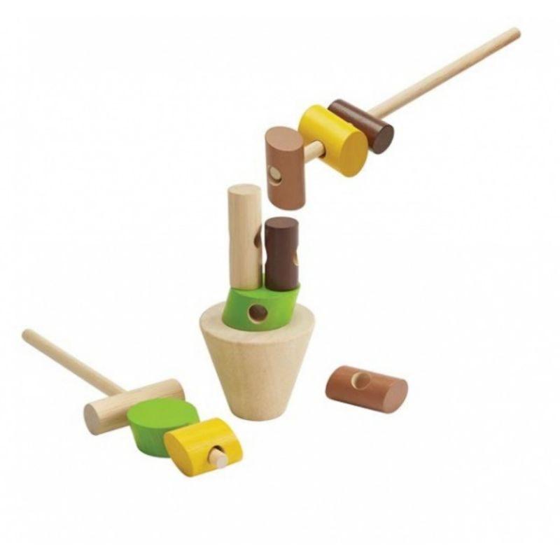 Apila los troncos Plan Toys - Monetes