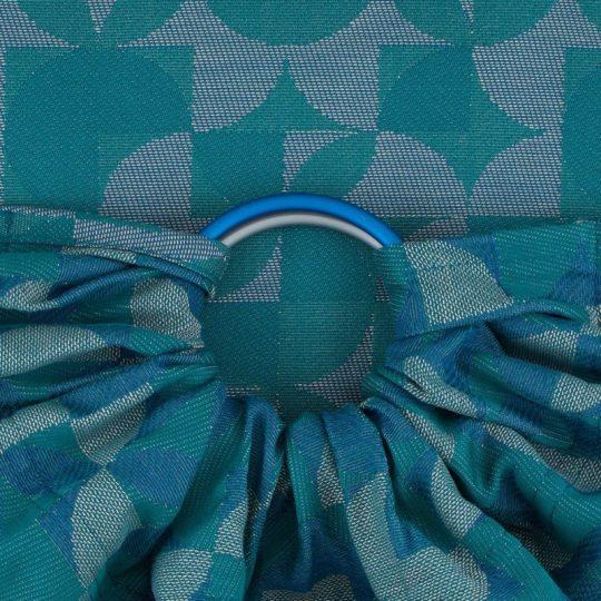 Bandolera Fidella Kaleidoscope - Azul/Verde -
