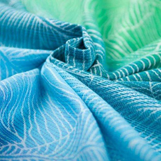 Fular tejido Hoppediz Quito Aqua