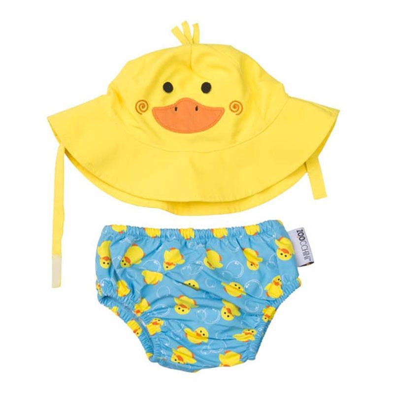 Juego de Bañador Pañal y Gorro - Puddles el Pato -
