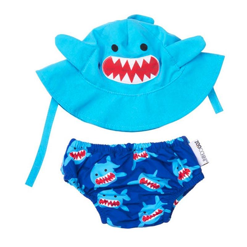 Juego de Bañador Pañal y Gorro - Sherman el Tiburón -