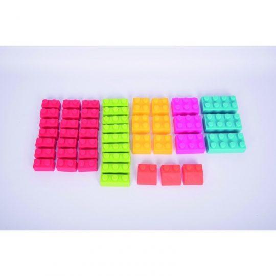 Set de bloques blanditos - 45 piezas -