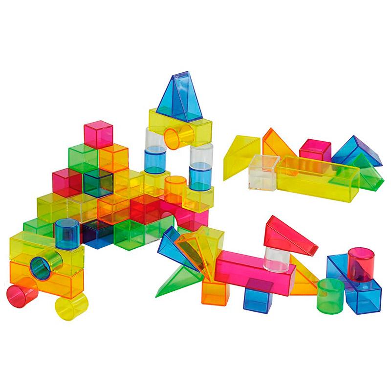 Bloques de construcción translúcidos (50 piezas)