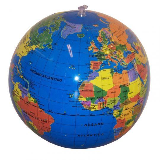 Bola del Mundo Hinchable 30cm