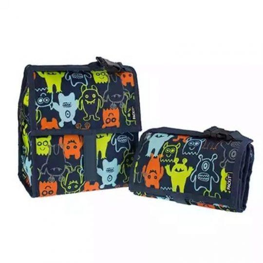 Bolsa portalimentos congelable Lunch Bag Monsters 4'4L