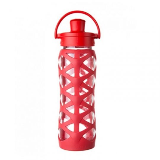 Botella 650 ml Lifefactory Active Cap Charged Red