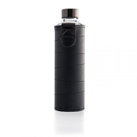 Botella cristal Equa Mismatch piel - Grafito - 750 ml