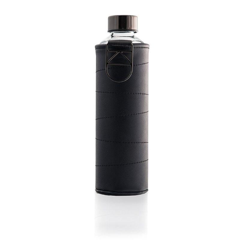 Botella de cristal Equa Mismatch piel grafito 750 ml