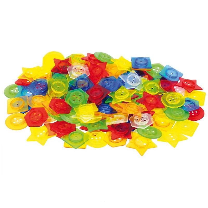 Botones para ensartar translúcidos - Tick It