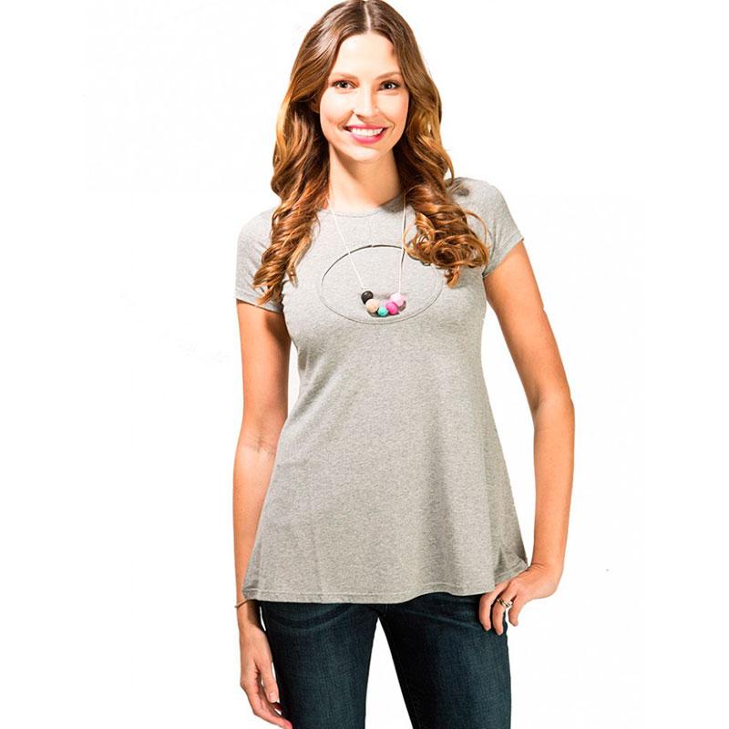 Camiseta Premamá y Lactancia Moom Round Grey