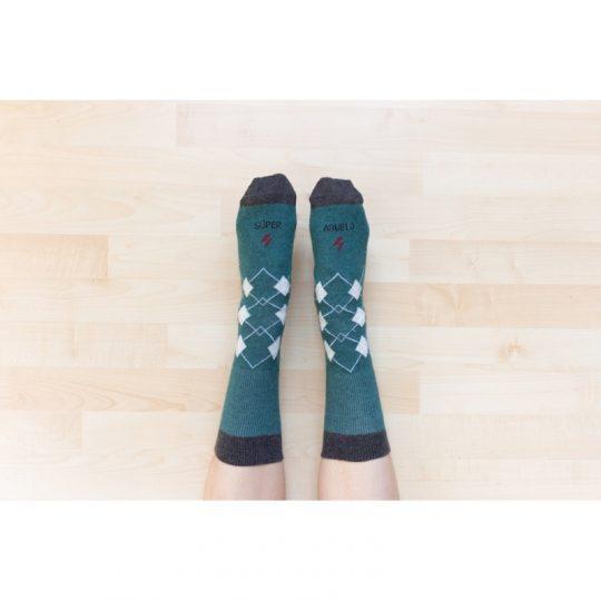 Calcetines 'Superabuelo' Verde