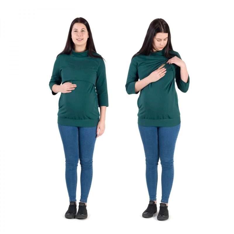 Camiseta-embarazo-lactancia-jola-dark-green-fun2bemum-monetes1
