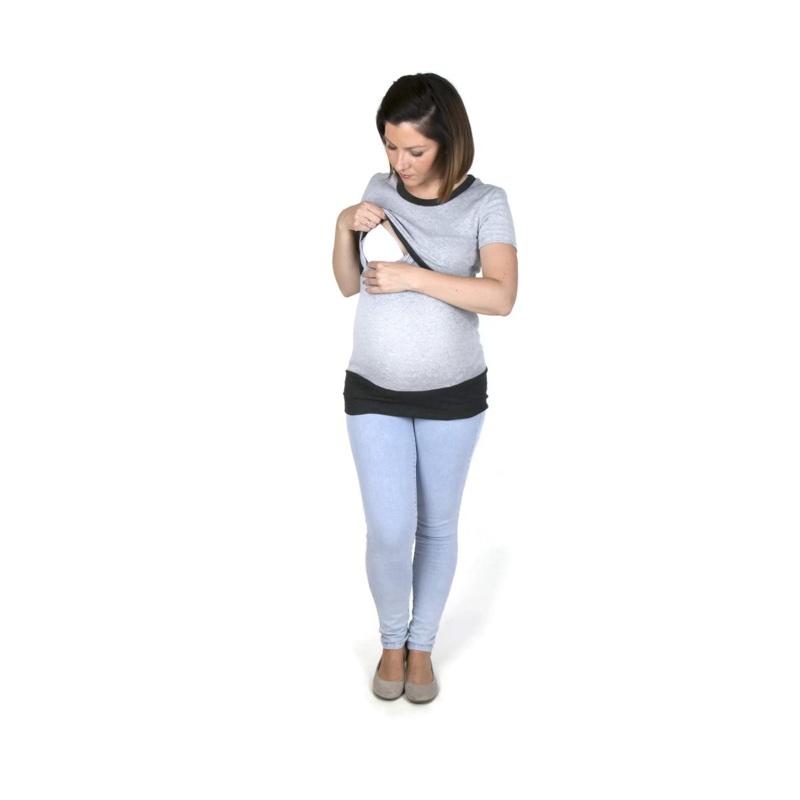 Camiseta-embarazo-lactancia-manga-corta-gris-grafito-fun2bemum-monetes2