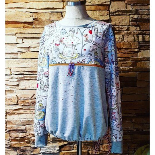 Camiseta Lactancia L/XL -Gris-