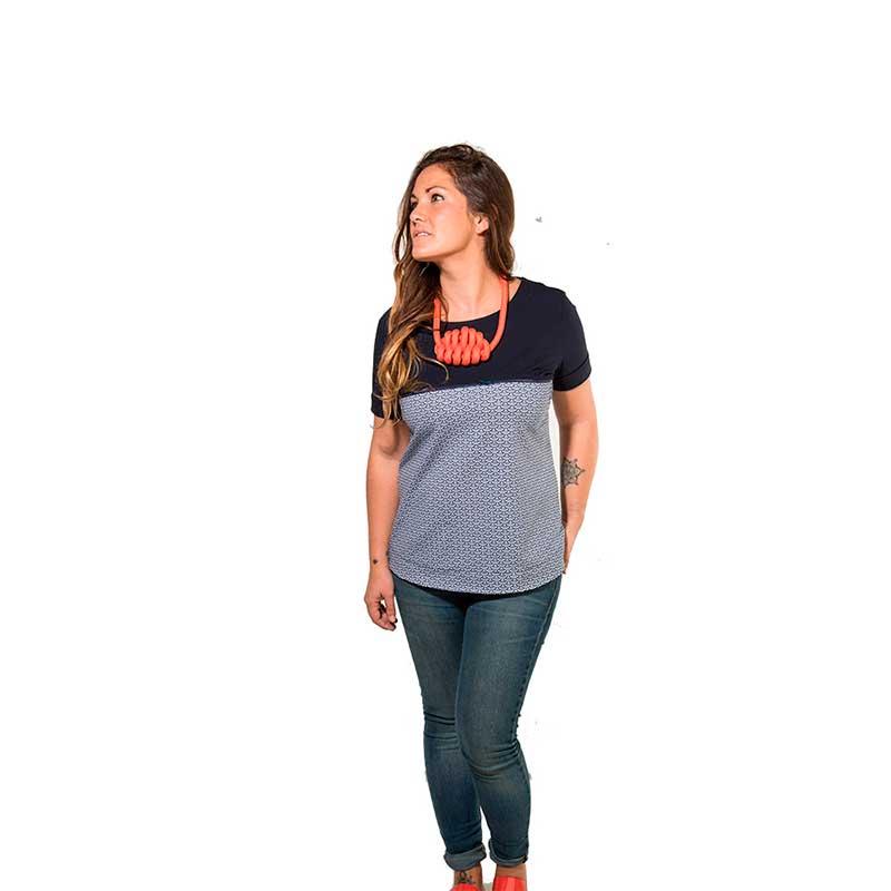 Camiseta premamá y lactancia - Navy Scales -