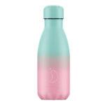 Chillys botella isotérmica 260 Gradient pastel menta & rosa