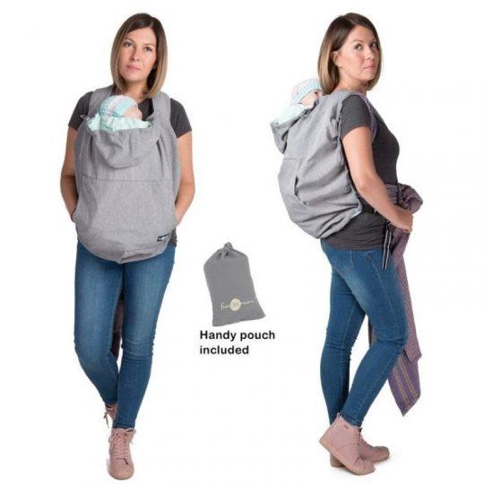 Cobertor de porteo Softshell 3 en 1 - Grey Melange -