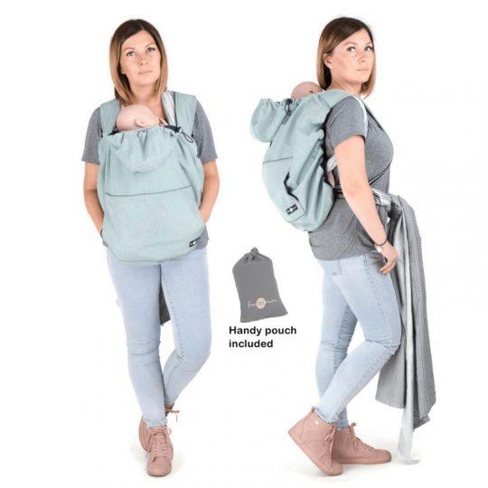 Cobertor de porteo Softshell - Melange Dust Mint -