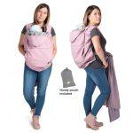 Cobertor de porteo softshell, pink melange, Fun2BeMum