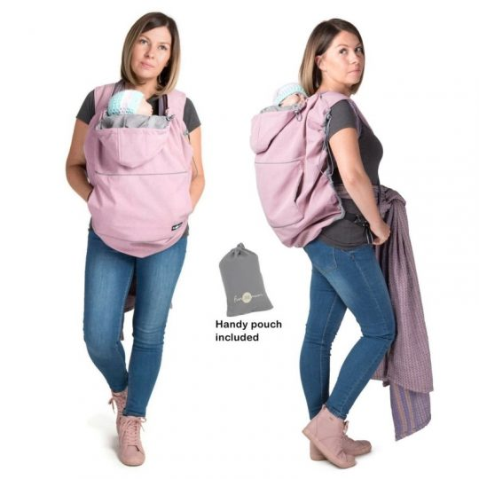 Cobertor de porteo Softshell - Pink Melange -