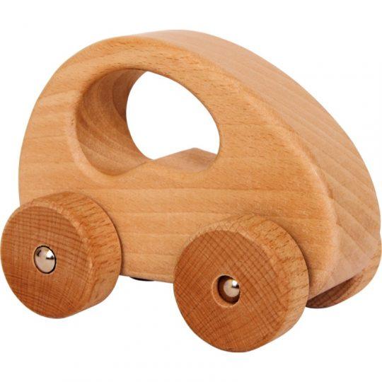 Coche de madera natural