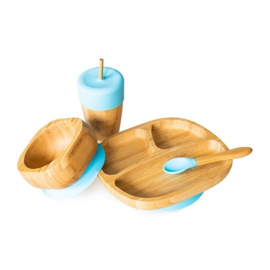 Pack Vajilla Antideslizante Bamboo EcoRascals - Varios colores -