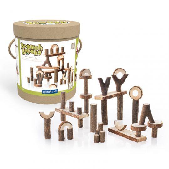 Construcción de madera Branch Blocks - 36 piezas -