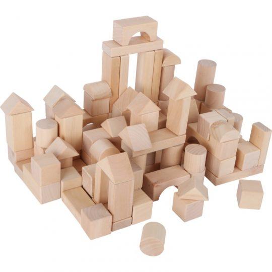 Juego de construcción de madera en Saco - 100 piezas -