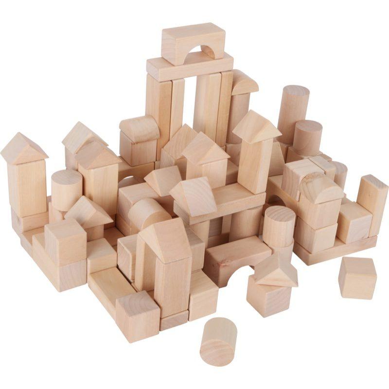 Saco de piezas de construcciones de madera natural, Small Foot