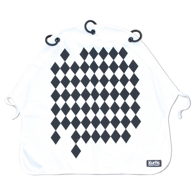 Cortina Pram Curtain Kurtis Arlequin Black and white