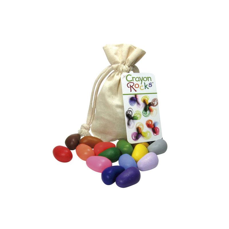 Bolsa de algodón con 16 Crayon Rocks