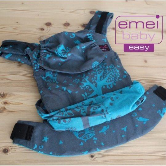 Mochila Emeibaby Easy - Treemei petrol y turquesa