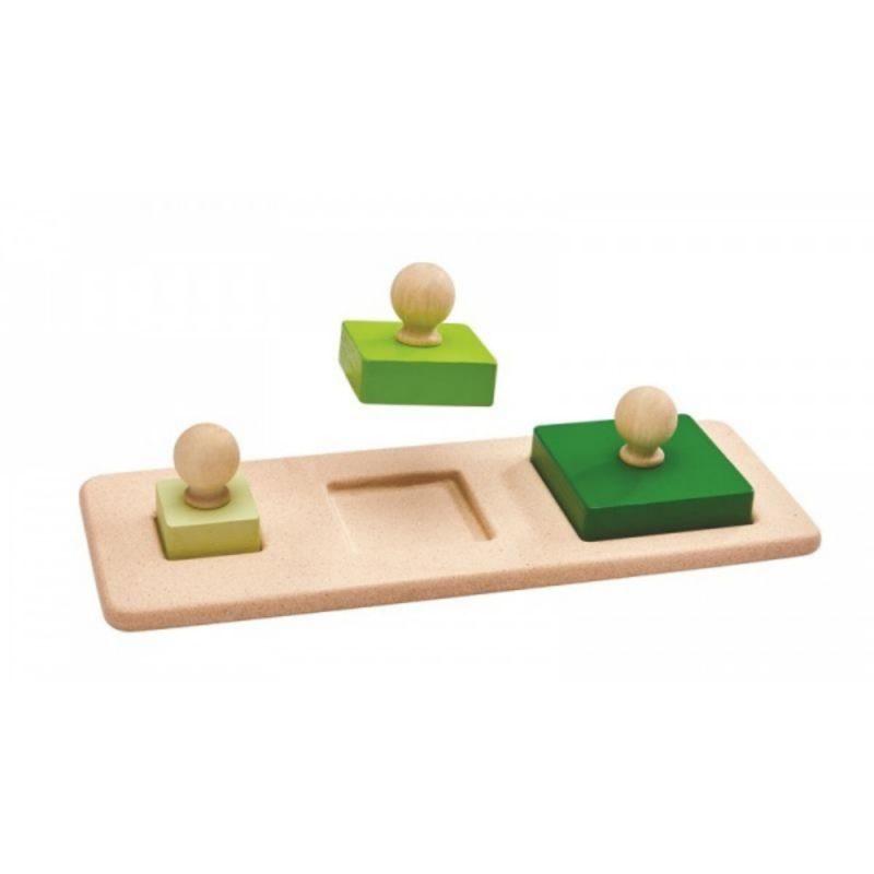 Encaja los cuadrados Plan Toys - Monetes