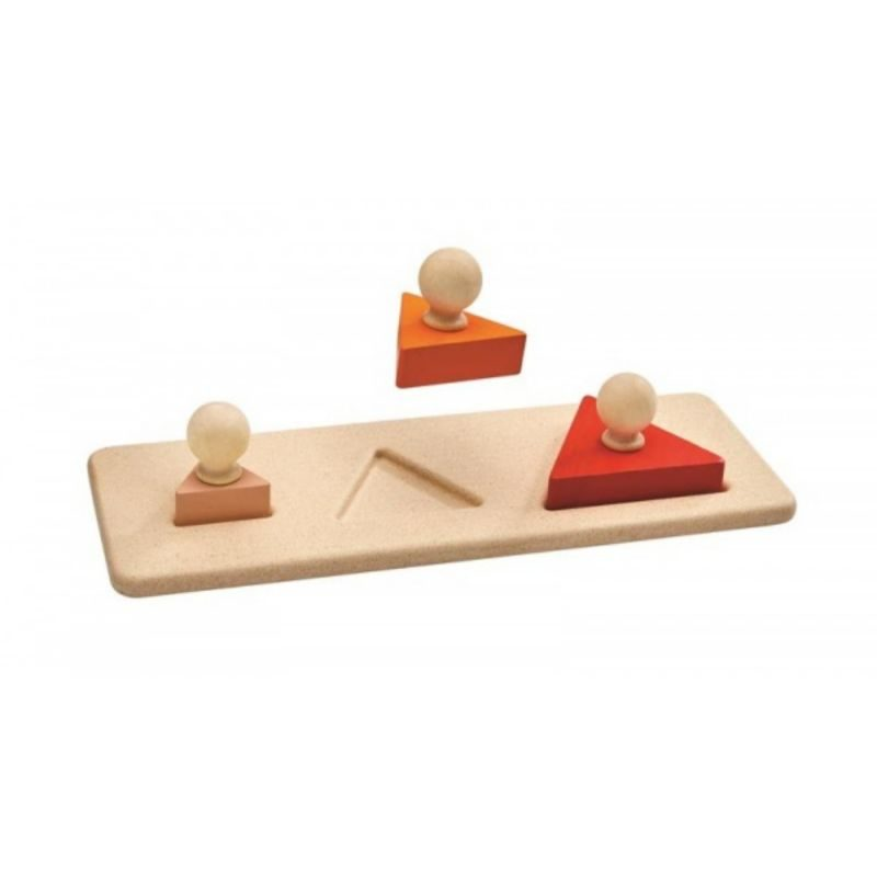 Encaja los triángulos Plan Toys - Monetes