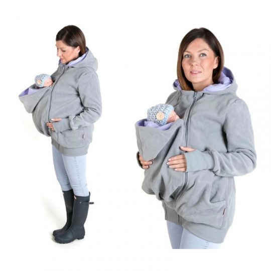 Chaqueta Polar embarazo y porteo 3 en 1 - Luna Grey/Lilac -