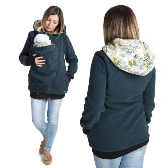 Chaqueta Polar 3 en 1 - Luna Petrol Green/Monstera -